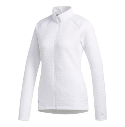 Adidas Golf W Texture Full Zip LYR Golftröja Vit