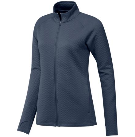 Adidas Golf W Texture Full Zip LYR Golftröja