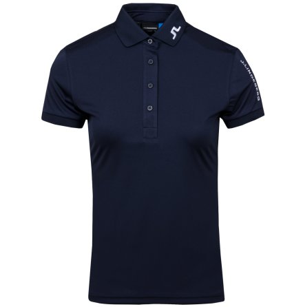 J Lindeberg Golf W Tour Tech TX Jersey Navy