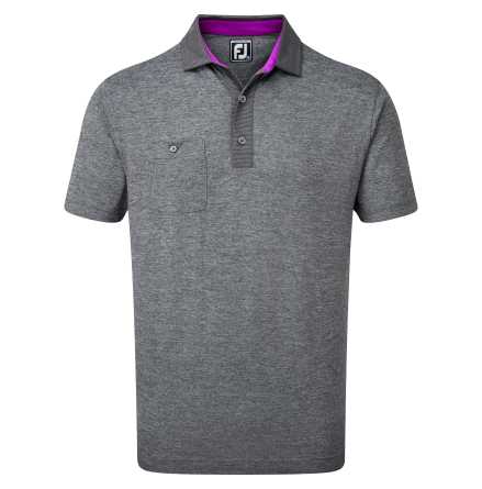 FootJoy Heather Pique With Pinstripe