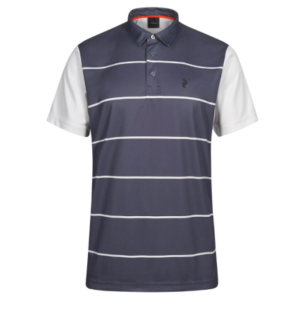 Peak Performance Golf Bandon Print Polo Mörkgrå