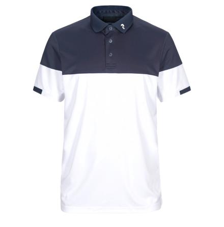 Peak Performance Golf Player Block Polo Navy/Vit