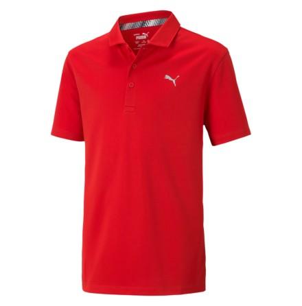 Puma Golf Essential Polo Junior Röd