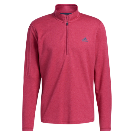 Adidas Golf 3-Stripe 1/4 Zip Golftröja Pink