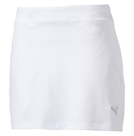 Puma Golf Girls Solid Knit Skirt White