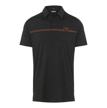 J Lindeberg Golf Clay Regular Fit Polo Black