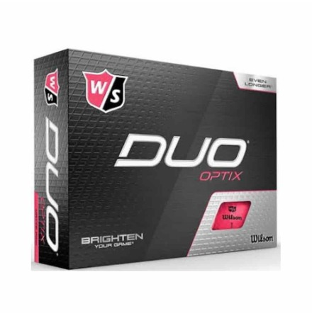 Golfbollar Wilson Staff Duo+ Optix Pink