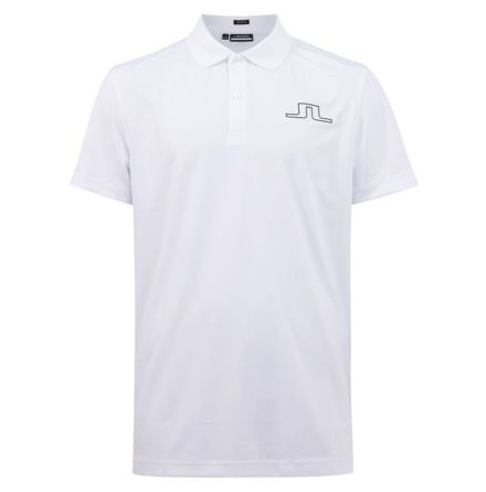 J Lindeberg Golf Bridge Regular Fit Polo White