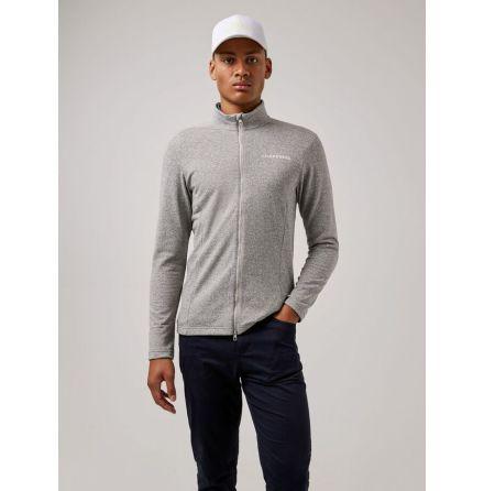 J Lindeberg Golf Davy Mid Layer Stone Grey