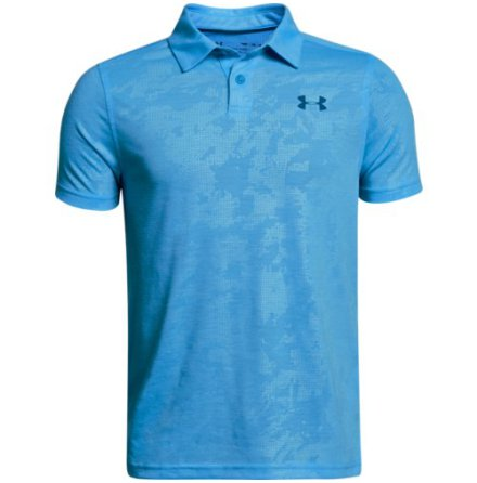 Under Armour Golf Threadborne Polo Canoe Blue Junior
