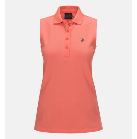 Peak Performance Golf W Sleeveless pique True Pink