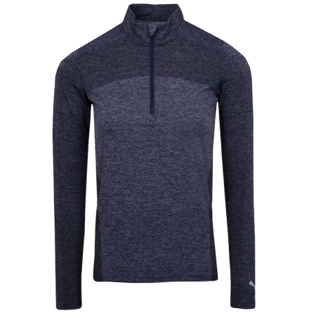 Puma Golf W Evoknit Seamless 1/4 Zip Peacoat