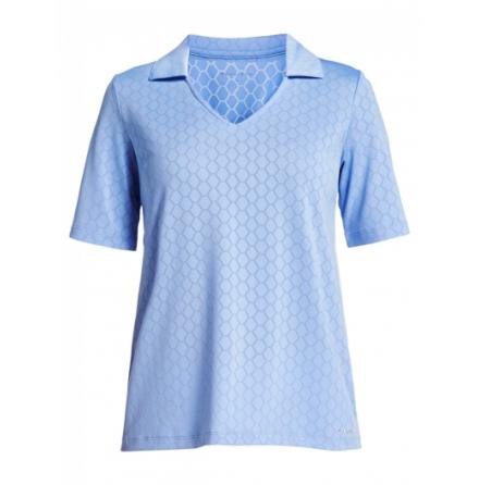 Röhnisch Golf Jacquard Poloshirt Blue Shell