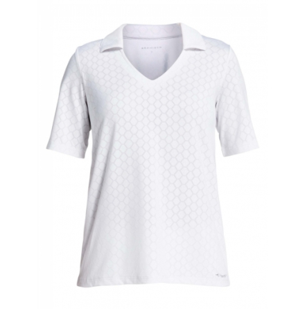 Röhnisch Golf Jacquard Poloshirt White