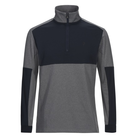 Peak Performance Golf Light Tour Zip Grey Melange