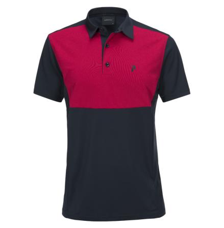 Peak Performance Golf Race Tour Polo Salute Blue/True Pink