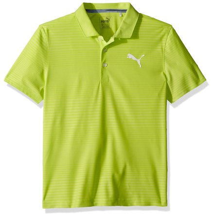 Puma Golf Pounce Aston Polo Junior Acid Lime