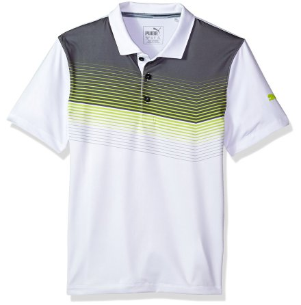 Puma Golf Road Map Polo Junior Lime