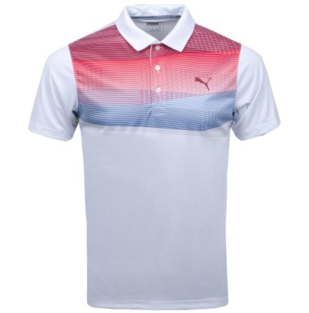 Puma Golf PWRCOOL Refraction Polo Pomegranat