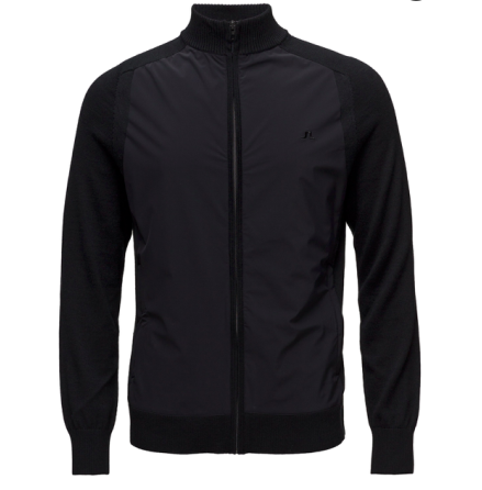 J.Lindeberg Golf Knitted Hybrid Jacket Black