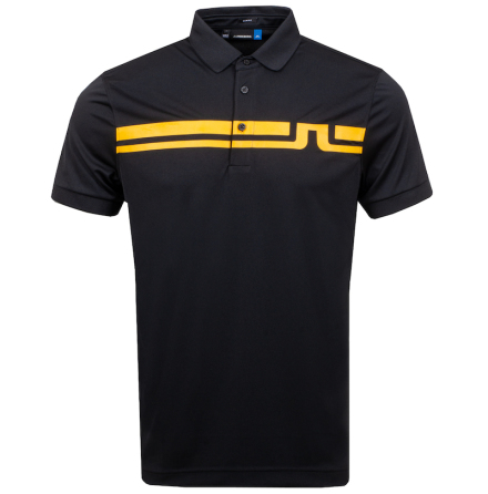 J Lindeberg Golf Eddy TX Jersey Svart/Orange