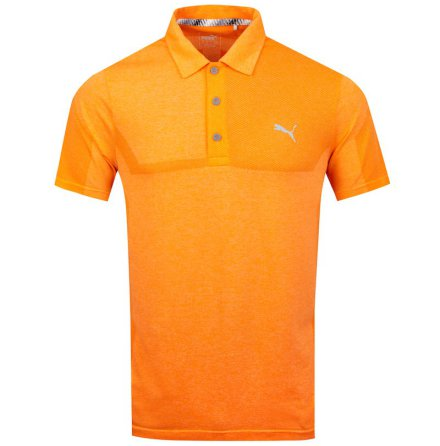 Puma Golf Evoknit Breakers Polo Orange