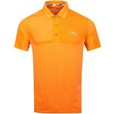 Puma Golf Evoknit Breakers Polo Orange