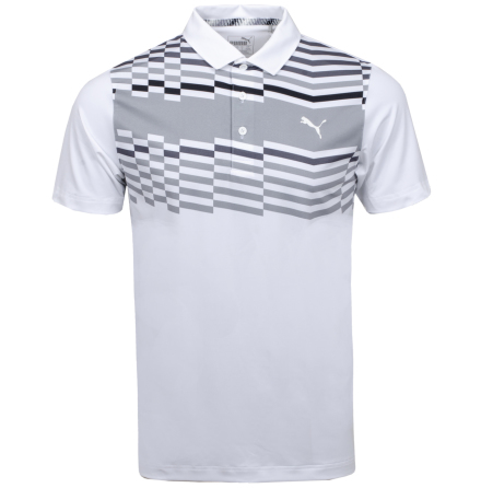 Puma Golf Road Map Polo Vit/Svart