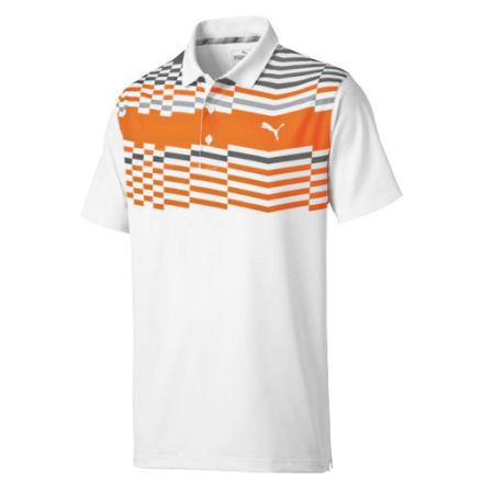 Puma Golf Road Map Polo Orange