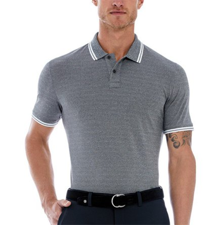 G/Fore Core Tipped Polo Grå