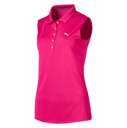 Puma Golf Pounce Sleeveless Polo Fuchsia