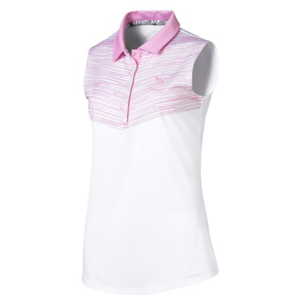Puma Golf W Chevron Sleeveless Polo Rosa