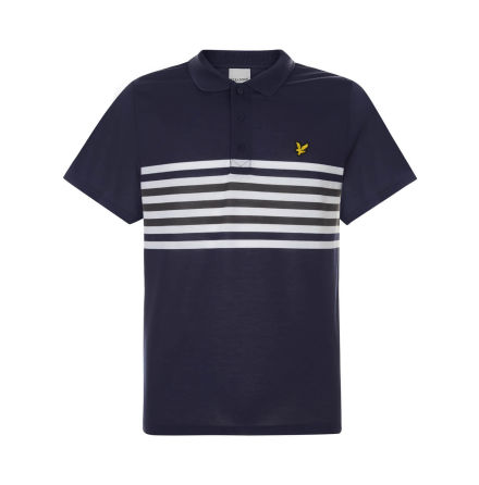 Lyle & Scott Golf Plus Stripe Polo Marin