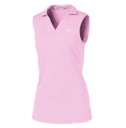 Puma Golf Girls Heather Polo Pale Pink