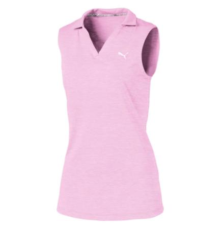Puma Golf Girls Heather Polo Pale Pink