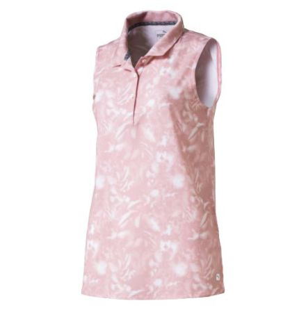 Puma Golf W Flower Sleevless Polo