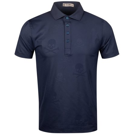 G/Fore Skull & T`s Embossed Polo Marin
