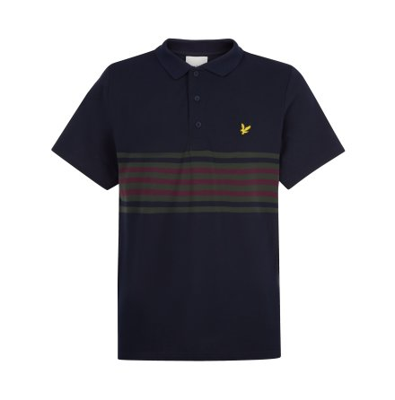 Lyle & Scott Golf Plus Stripe Polo Berry