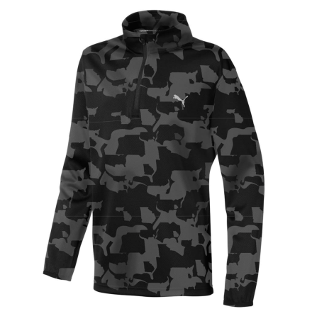 Golftröja Puma Golf Union Camo 1/4 Zip Junior
