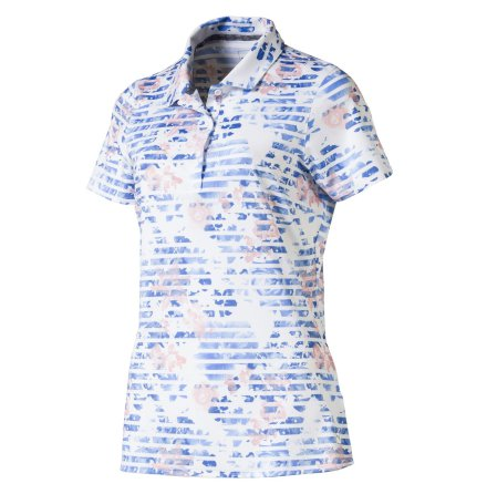 Puma Golf W Floral Stripe Polo