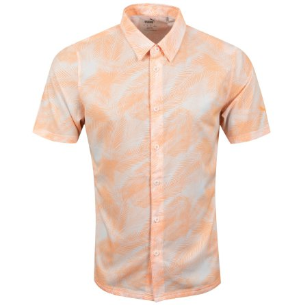 Puma Golf Palms Shirt Cantaloupe