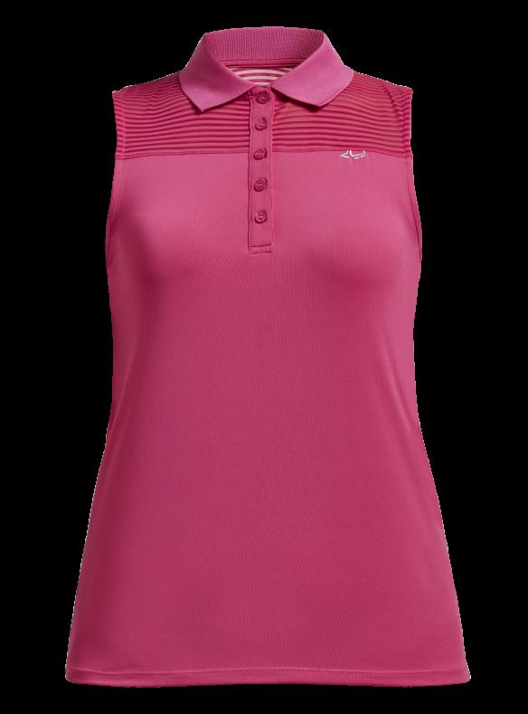 Röhnisch Golf Miko Sleeveless Poloshirt Fuchsia