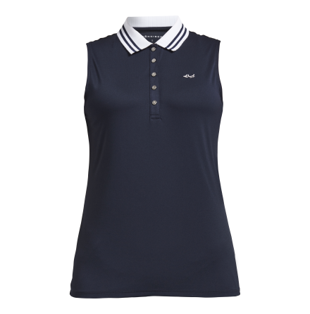 Röhnisch Golf Stripe Sleeveless Navy