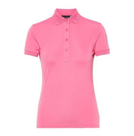 J Lindeberg Golf W Tour Tech TX Jersey Pop Pink