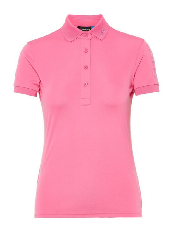 J Lindeberg Golf W Tour Tech TX Jersey Pop Pink