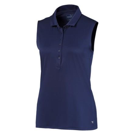 Puma Golf Rotation Sleeveless Polo Marin