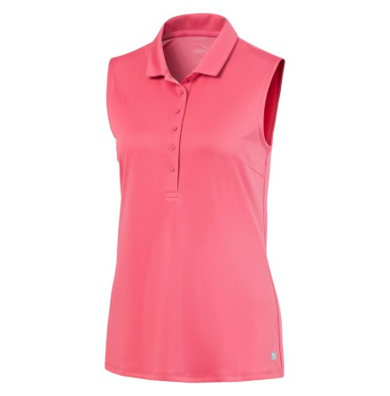 Puma Golf Rotation Sleeveless Polo Rapture Rose