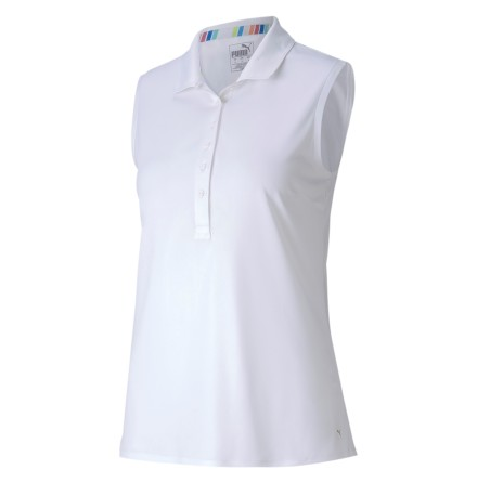 Puma Golf Rotation Sleeveless Polo White