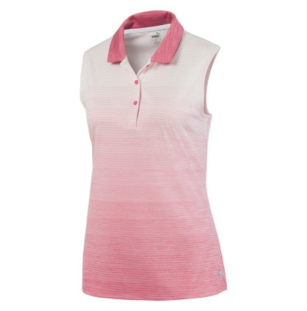 Puma Golf W Ombre Sleeveless Polo Rapture Rose