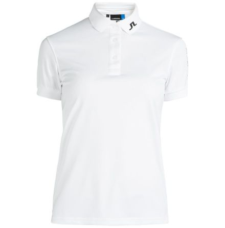 J Lindeberg Golf W Tour Tech TX Jersey White